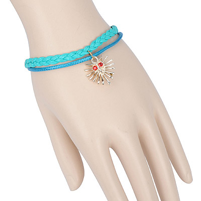 Jogging green phantom decorated double layer design alloy Korean Fashion Bracelet