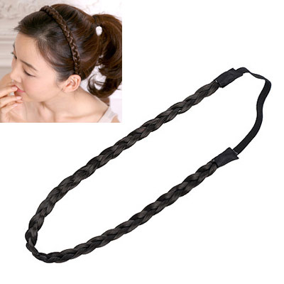 Players black simple design rubber band Hair band hair hoop