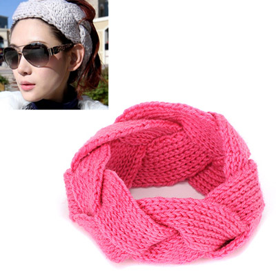 Skinny pink twist weave simple design wool Hair band hair hoop