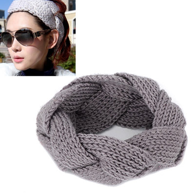 Glueless gray twist weave simple design wool Hair band hair hoop
