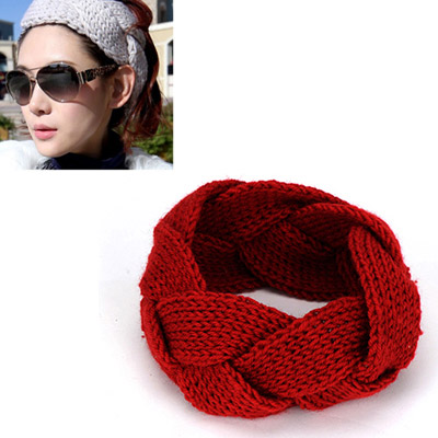 Rave red twist weave simple design wool Hair band hair hoop