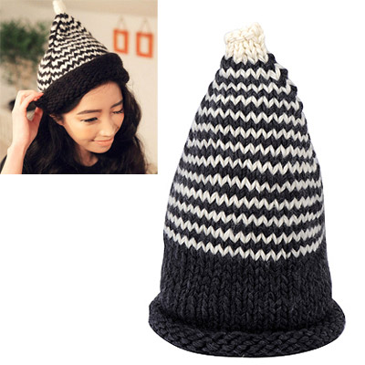 Funny black beak shape simple design wool Knitting Wool Hats