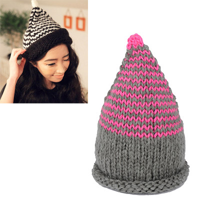 Special plum red beak shape simple design wool Knitting Wool Hats