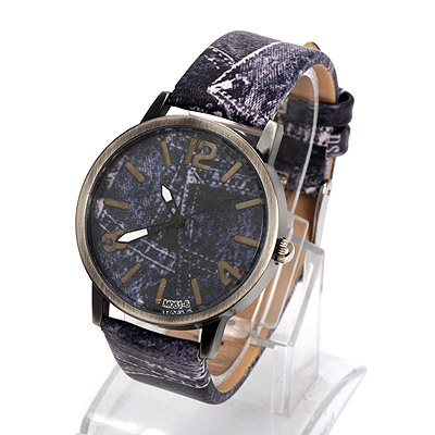 Ladies purple cowboys pattern simple design alloy Ladies Watches