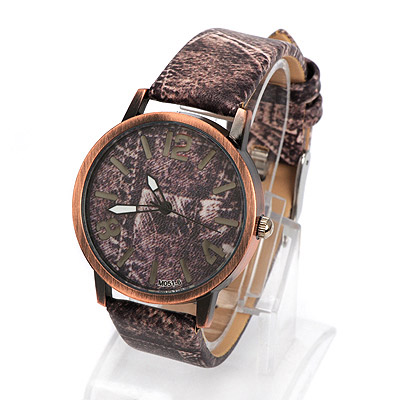 Torrid brown cowboys pattern simple design alloy Ladies Watches