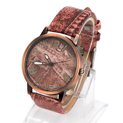 Health pink cowboys pattern simple design alloy Ladies Watches