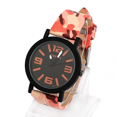 Girls orange camouflage pattern simple design