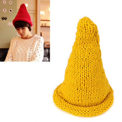 Legal yellow curling steeple design wool Knitting Wool Hats