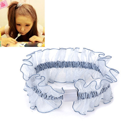 Aamazing Blue Gauze Decorated Simple Design Rubber Band Hair band hair hoop