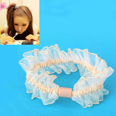 Choker Beige Gauze Decorated Simple Design Rubber Band Hair band hair hoop