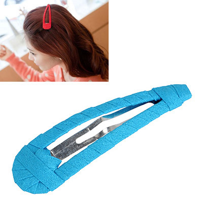 Birthing Blue Pure Color Weave Design Alloy Hair clip hair claw