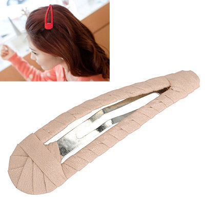 Sparking Beige Pure Color Weave Design Alloy Hair clip hair claw