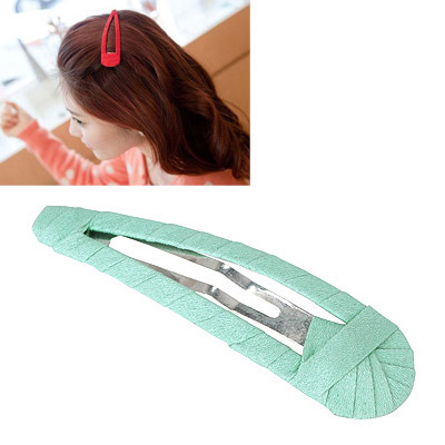 Easter Light Green Pure Color Weave Design Alloy Hair clip hair claw