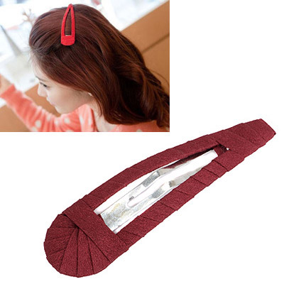Softshell Claret-red Pure Color Weave Design Alloy Hair clip hair claw