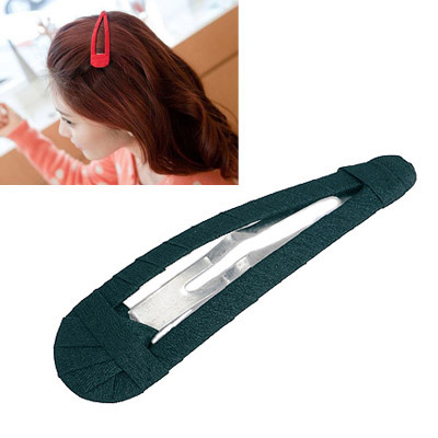Moving Dark Green Pure Color Weave Design Alloy Hair clip hair claw