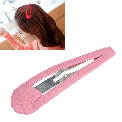 Concealed Pink Pure Color Weave Design Alloy Hair clip hair claw