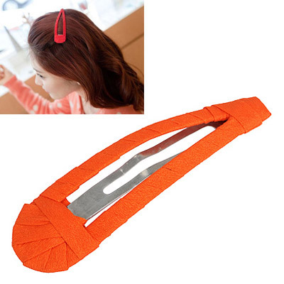 Winter Orange Pure Color Weave Design Alloy Hair clip hair claw