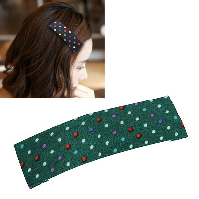 Rasta Dark Green Cute Dot Pattern Simple Design Alloy Hair clip hair claw