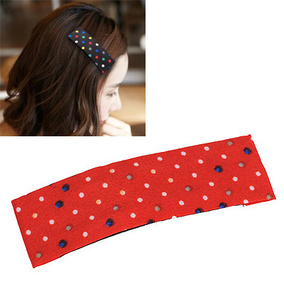 High Waist Red Cute Dot Pattern Simple Design Alloy Hair clip hair claw
