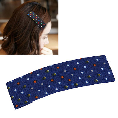 Japanese Sapphire Blue Cute Dot Pattern Simple Design Alloy Hair clip hair claw