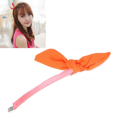 2012 Orange Bowknot Decorated Simple Design Alloy Hair clip hair claw