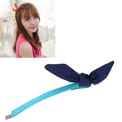 Juniors Navy Blue Bowknot Decorated Simple Design Alloy Hair clip hair claw