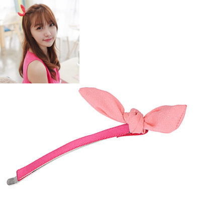 Scottish Pink Bowknot Decorated Simple Design Alloy Hair clip hair claw