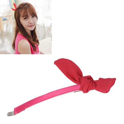Fall Claret-red Bowknot Decorated Simple Design Alloy Hair clip hair claw