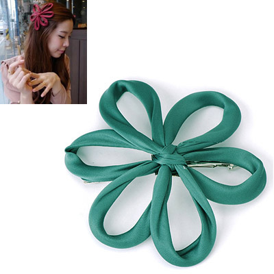 Long Green Flower Decorated Simple Design Alloy Hair clip hair claw
