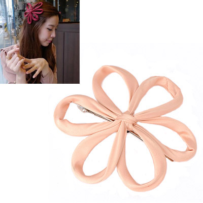 Satchel Apricot Flower Decorated Simple Design Alloy Hair clip hair claw