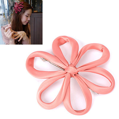 Current Pink Flower Decorated Simple Design Alloy Hair clip hair claw