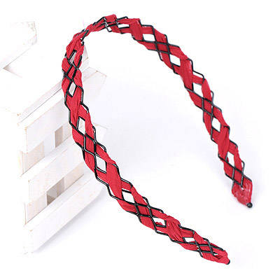 Bulk Claret-red Weave Simple Design Alloy Hair band hair hoop