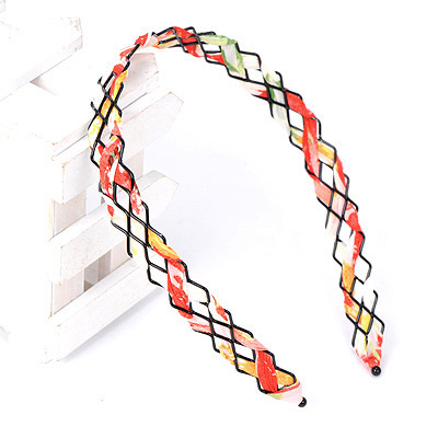 Mysterious White & Orange Weave Simple Design Alloy Hair band hair hoop