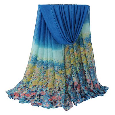 Quality Blue Flower Pattern Gradient Design