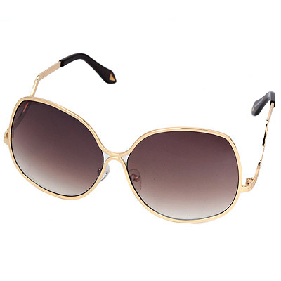 Choker Gold Color Big Flame Simple Design Alloy Women Sunglasses