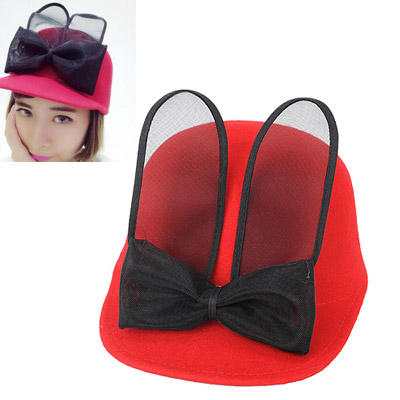 Highwaist Red Bowknot Decorated Simple Design