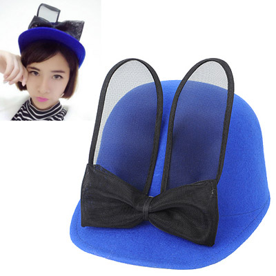 Genuine Blue Bowknot Decorated Simple Design