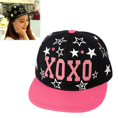 Fit Plum Red Printed Letter Xoxo Decorated Luminous Design Canvas Baseball Caps