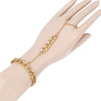 Art Gold Color Simple Design Alloy Korean Fashion Bracelet