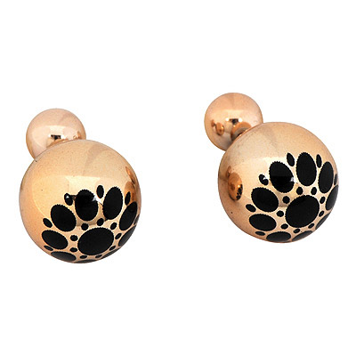 Nautical Gold Color Round Pattern Simple Design Alloy Stud Earrings