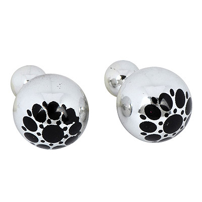 Equestrian Silver Color Round Pattern Simple Design Alloy Stud Earrings