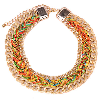 Mysterious Multicolor Chian Weaving Multilayer Simple Design