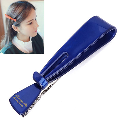 Fit Dark Blue Letter Decorated Bowknot Shape Design Acetate Sheet Hair clip hair claw