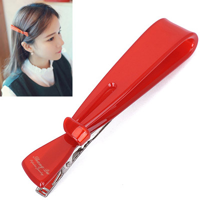 Direct Red Letter Decorated Bowknot Shape Design Acetate Sheet Hair clip hair claw