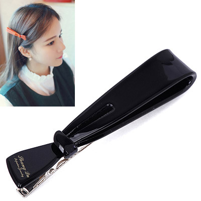 Floating Black Letter Decorated Bowknot Shape Design Acetate Sheet Hair clip hair claw