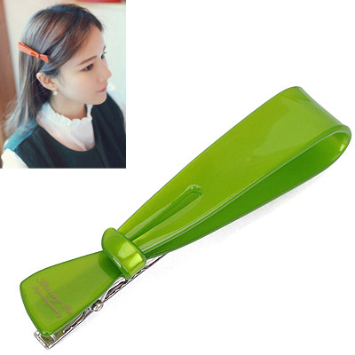 2011 Green Letter Decorated Bowknot Shape Design Acetate Sheet Hair clip hair claw