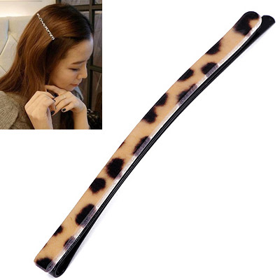 Monarchy Leopard Color Rectangular Shape Simple Design Acetate Sheet Hair clip hair claw