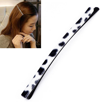Masculine Leopard Color Rectangular Shape Simple Design Acetate Sheet Hair clip hair claw