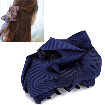 Waltons Navy Blue Bowknot Decorated Simple Design Acetate Sheet Hair clip hair claw