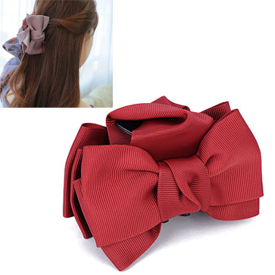 Sample Red Bowknot Decorated Simple Design Acetate Sheet Hair clip hair claw